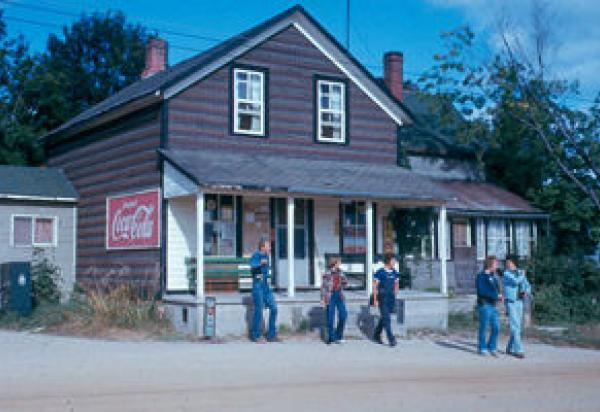 students in front of General Store