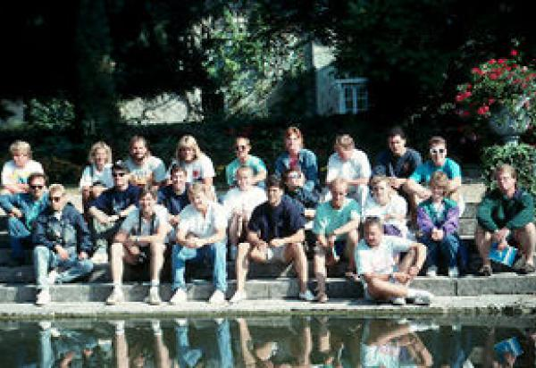 Group pic of students water front