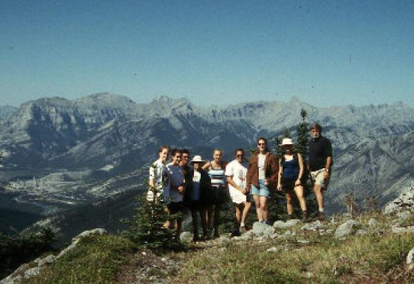 Students group shot in mountains