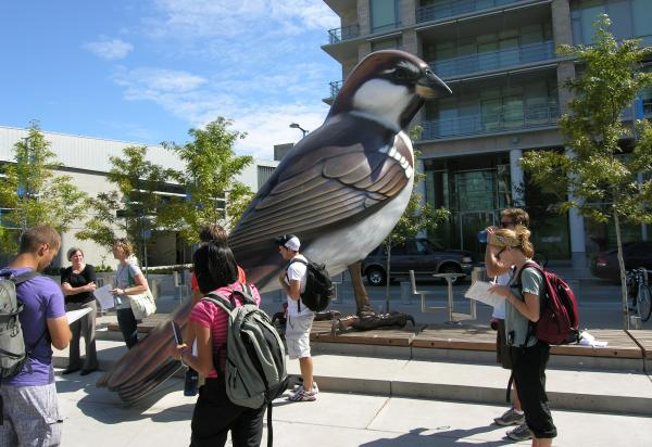 Note taking by giant bird