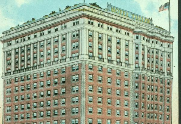Postcard of the Tuller Hotel Detroit Michigan