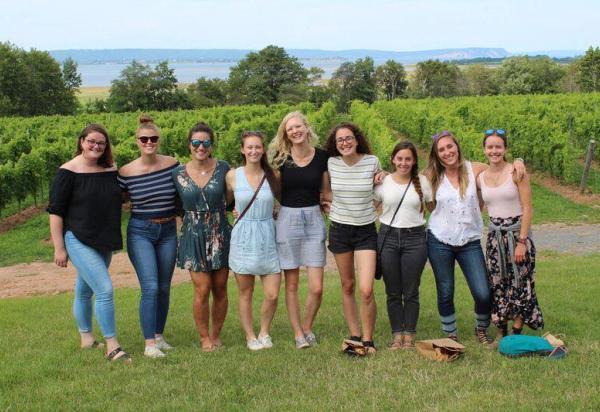 Ladies group at winery
